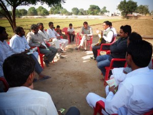 Meeting with farmers at their Farm