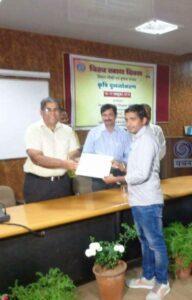 Sunil Kumar,Director,Receiving Farmer Scientist Award